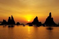 Sunrise of Hashikui rock Stock photo [2529232] Asahi
