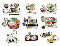 Japanese sukiyaki sushi other illustrations [2529657] And