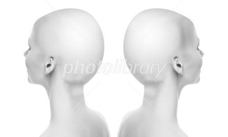 人体モデル 女性 後頭部 イラスト素材 2637157 フォトライブラリー