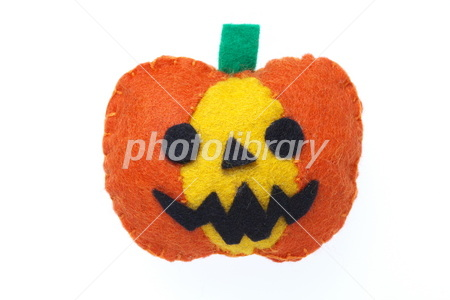 Felt Halloween pumpkin Photo