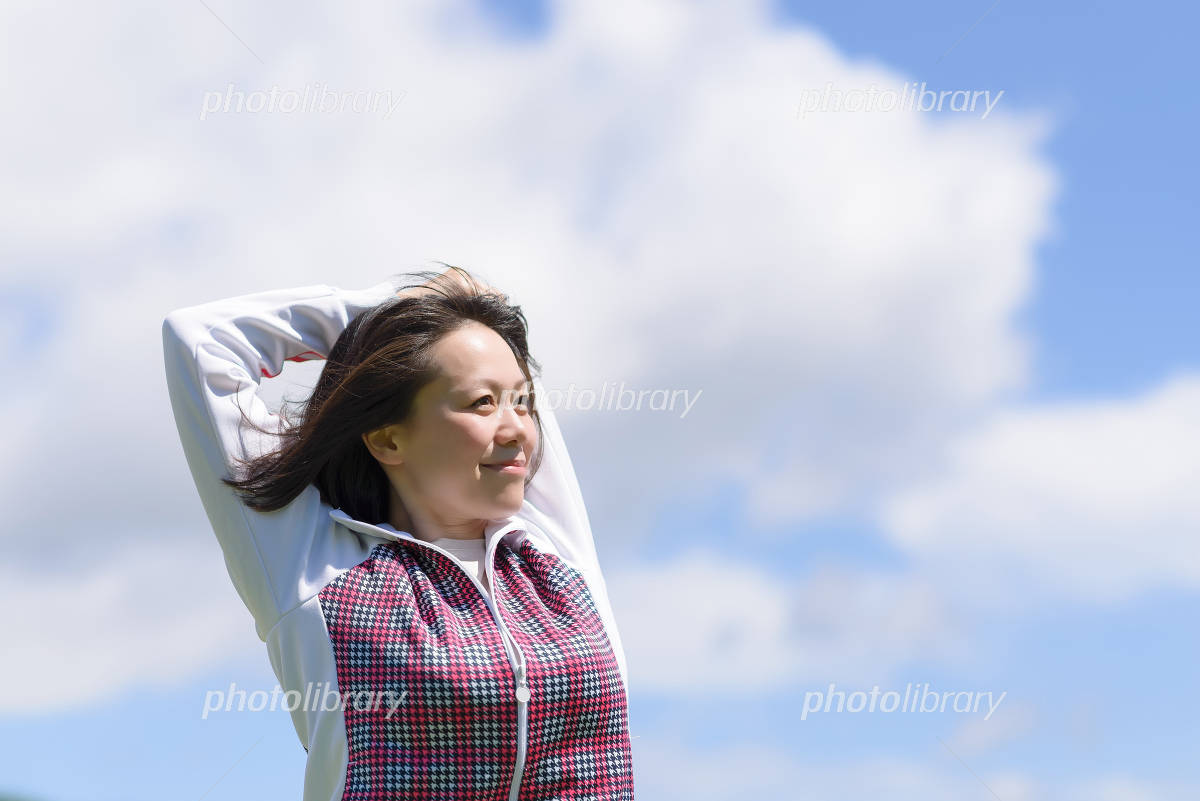 Woman to stretch Photo
