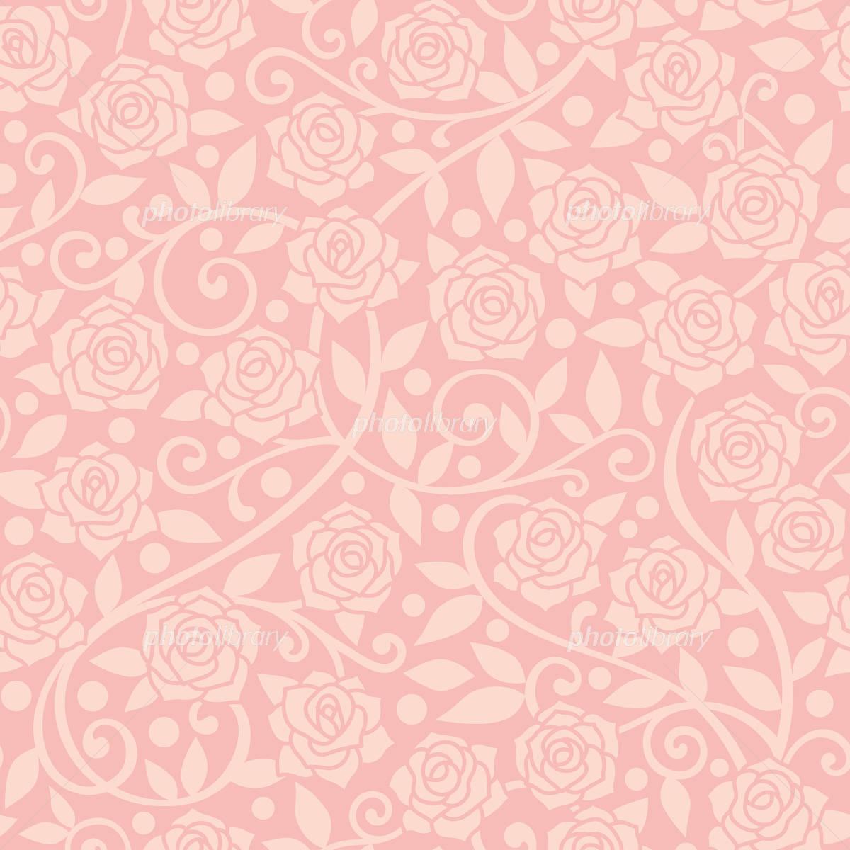 ピンクの薔薇の背景 イラスト素材 2808148 フォトライブラリー