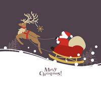 Santa Claus and reindeer [2808007] Christmas