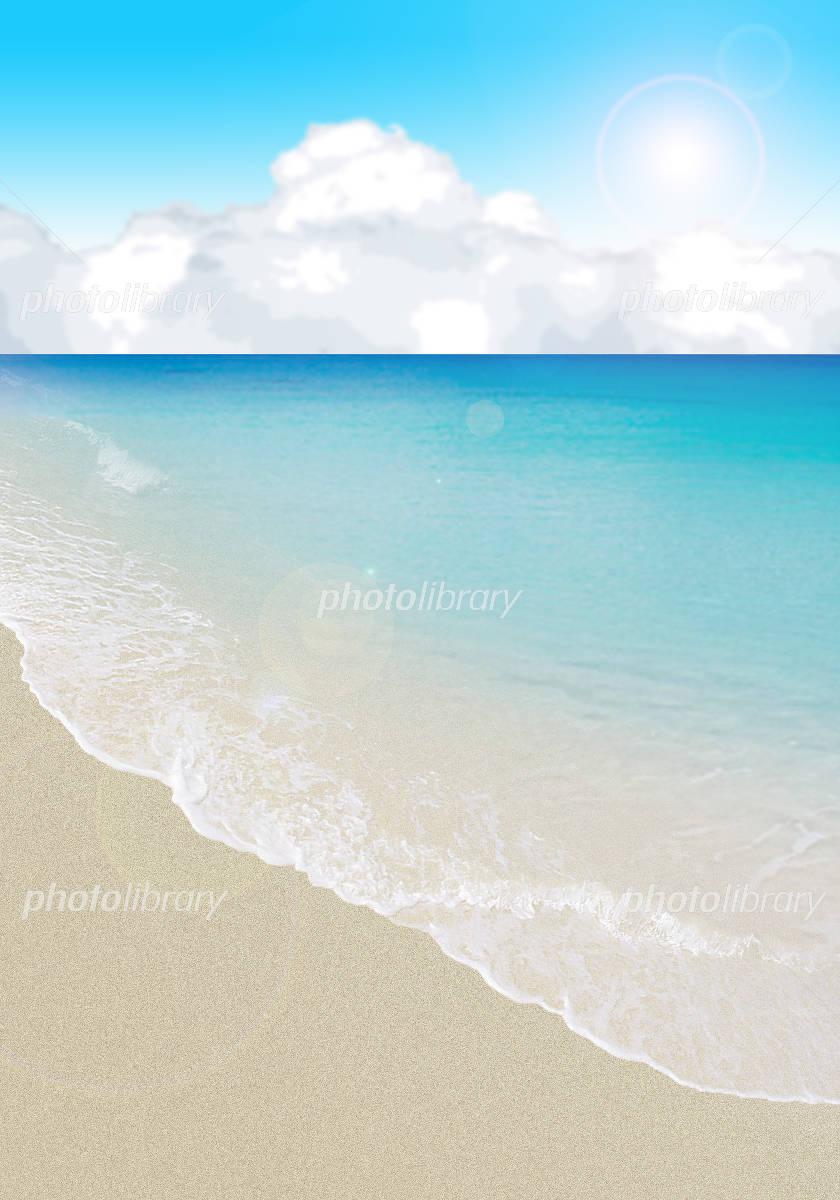 波打ち際のイラスト イラスト素材 2892562 フォトライブラリー