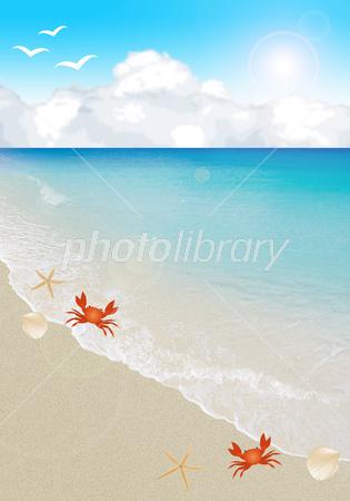 波打ち際のイラスト イラスト素材 2892572 フォトライブラリー