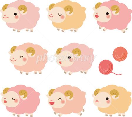 かわいい羊 イラスト素材 2895620 フォトライブラリー Photolibrary