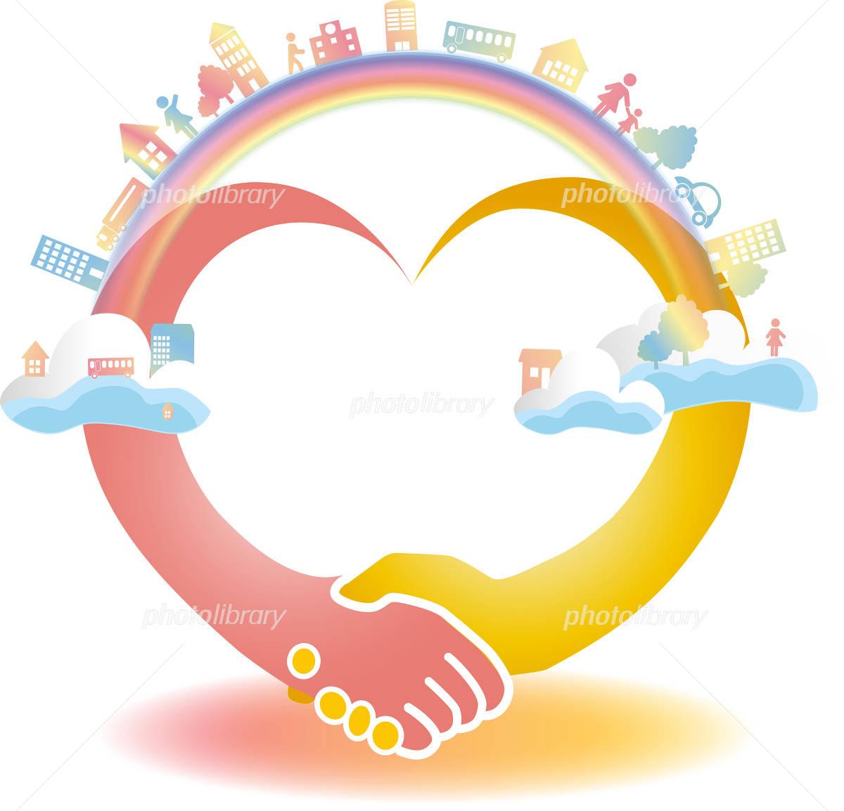 Handshake Heart イラスト素材