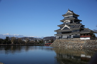 Matsumoto Castle and Hodaka mountain range Stock photo [2895872] Matsumoto