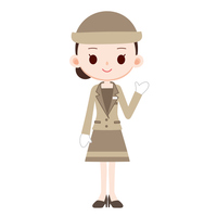 Female clerk of department store [2897803] Department