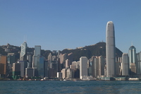 The Victoria Harbour from Hong Kong Kowloon side Stock photo [2977725] Hong