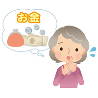 Elderly women to worry about money [2983336] Female