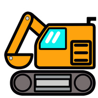 Cute shovel car in Pop [2983413] Excavator