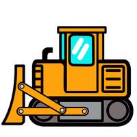 Cute bulldozer in Pop [2983421] Bulldozer
