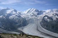 Monterosa and glaciers Stock photo [94450] Switzerland