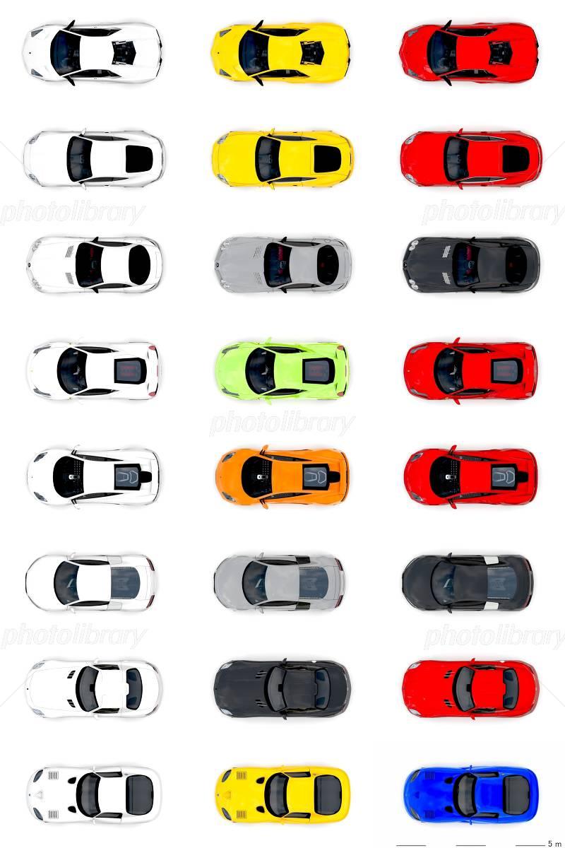 自動車を真上から 外車スポーツ イラスト素材 3147523 フォト