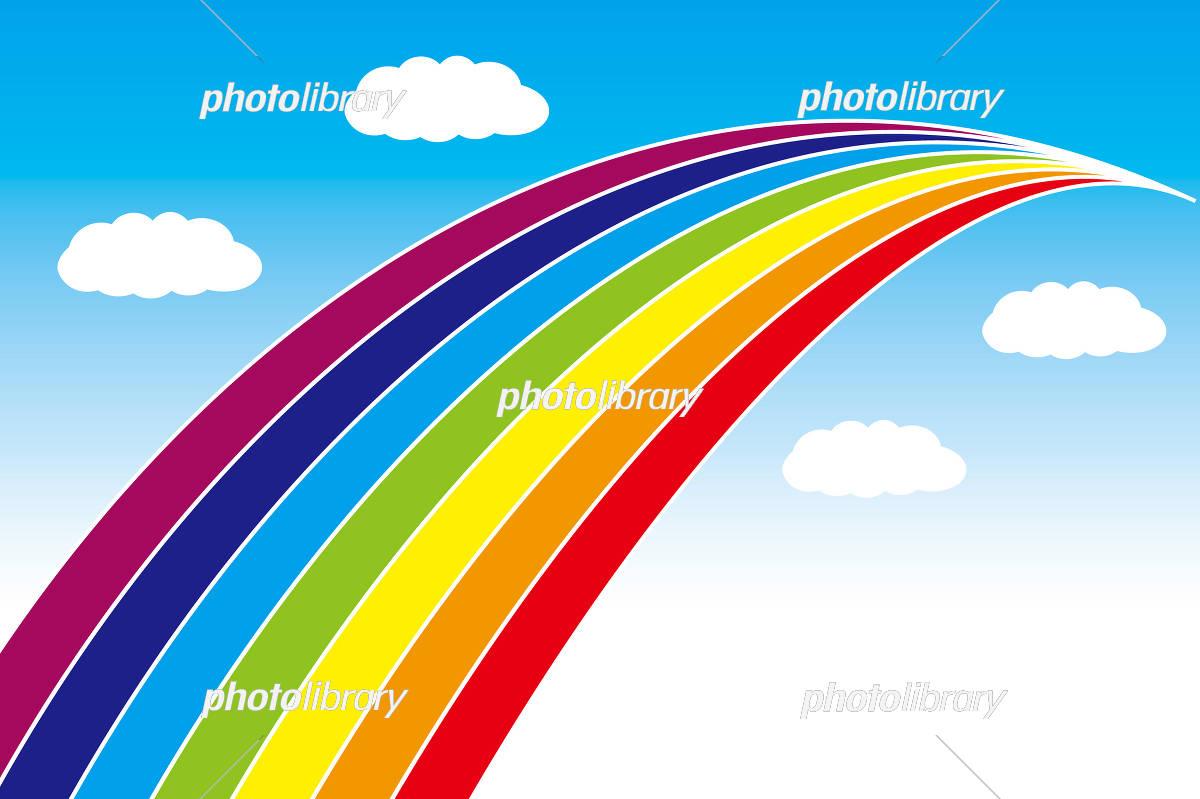 背景壁紙虹虹色レインボー虹の橋 イラスト素材 3156469