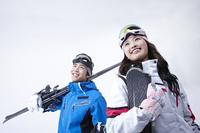 Skiing couple Stock photo [3148148] Smile