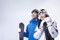 Skiing couple Stock photo [3148181] Winter