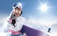 Woman skier Stock photo [3149645] Cloud