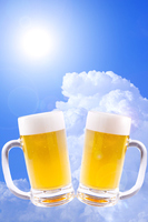 Sky and draft beer of summer Stock photo [3156285] Draft