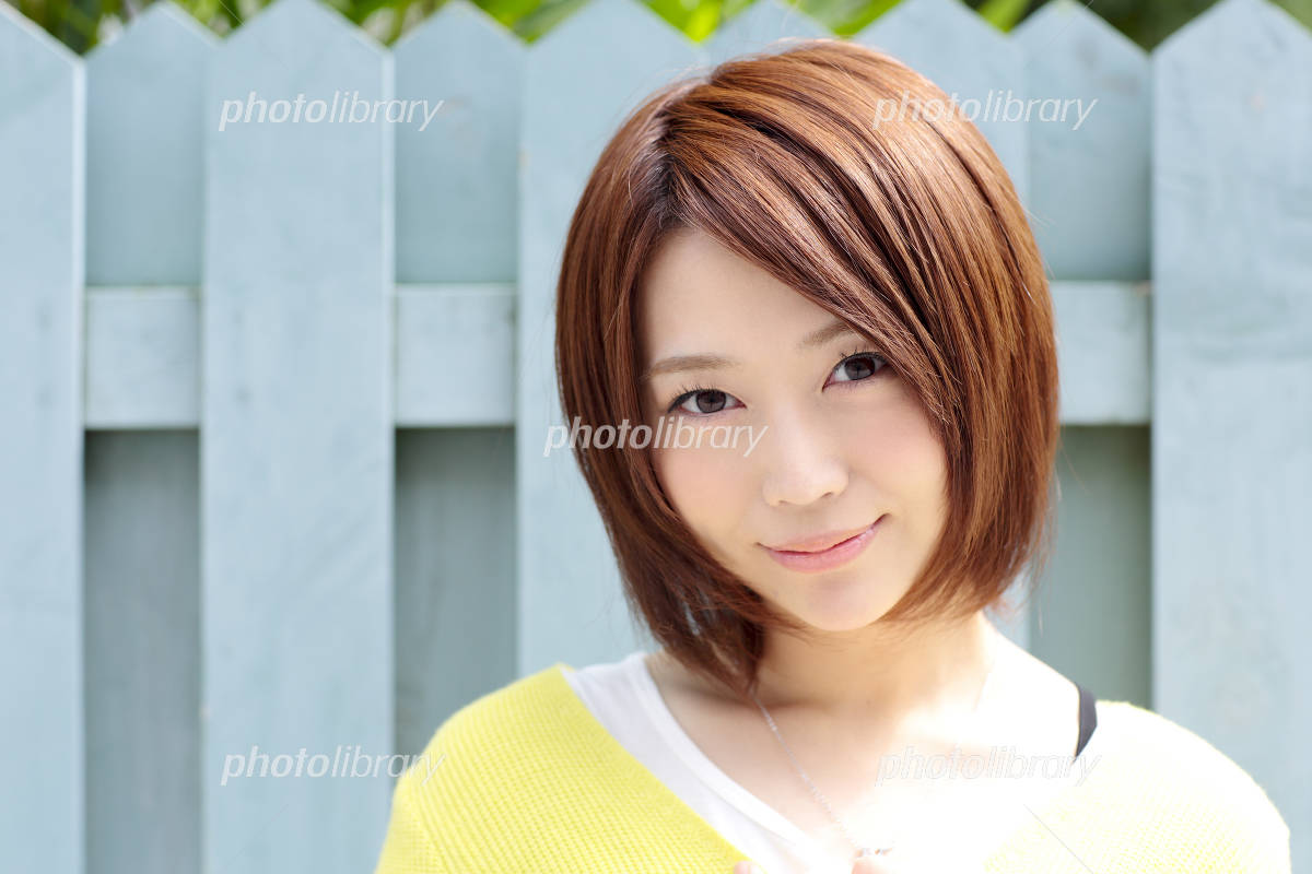 Young woman hair style Photo