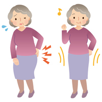 Senior Women's Health, which suffer from low back pain [3257007] Zinnia