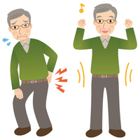 Senior male health to suffer from low back pain [3257012] Low