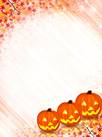 Halloween maple background [3257996] Halloween