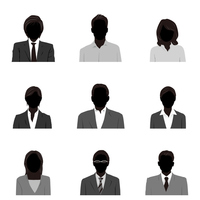 Businessman silhouette [3261437] Silhouette