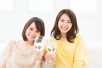 2 women drinking wine Stock photo [3267749] Wine
