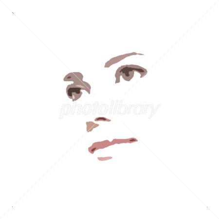 美しい女性の顔 シルエット イラスト素材 3354524 フォトライブ