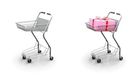Shopping cart wrapping box [3351933] Shopping