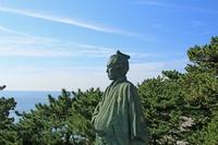 Bronze statue of Sakamoto Ryoma standing Katsurahama Stock photo [3447086] Katsura