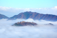 Takeda Castle floating in the sea of clouds Stock photo [3447698] Clouds