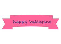 Pink Ribbon Happy Valentine [3452143] Pink