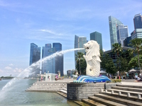 Singapore Merlion Stock photo [3453728] Landscape