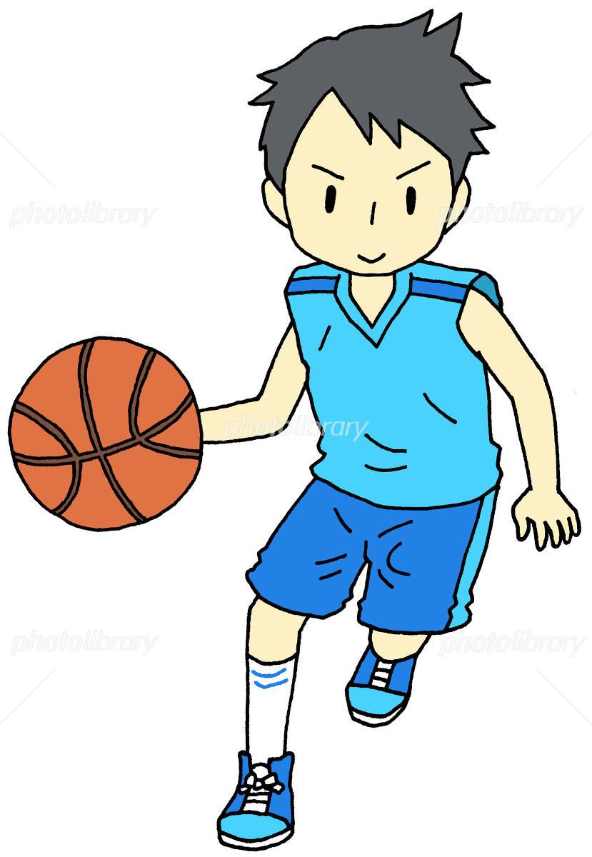 バスケットボール 男の子 イラスト素材 フォトライブラリー Photolibrary