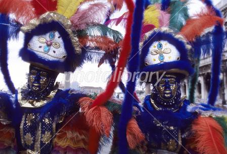 ベネツィアサンマルコ広場の仮装舞踏会 写真素材 [ 3550068 ] - フォト ...