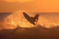 Surfer silhouette and splashes Stock photo [3539575] Surfing