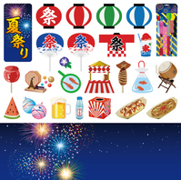 Summer festival icon [3651680] An
