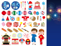 Summer festival icon [3657044] An