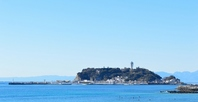 Enoshima and the sea of \Nipponbare Stock photo [3660917] Enoshima