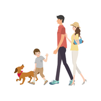 Family walk [3764680] Family