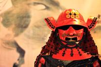 April Miyagi Sanada Yukimura replica armor stock photo