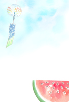 Wind chimes and watermelon [3765518] Wind