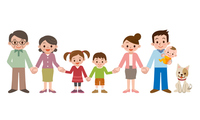 Holding Hands happy three generation family [3765839] Hold
