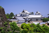 Kanazawa Castle Hashizume Mont Hashizume Gate continued oar-fifty between the tenement-Hishiyagura Stock photo [3771752] Ishikawa