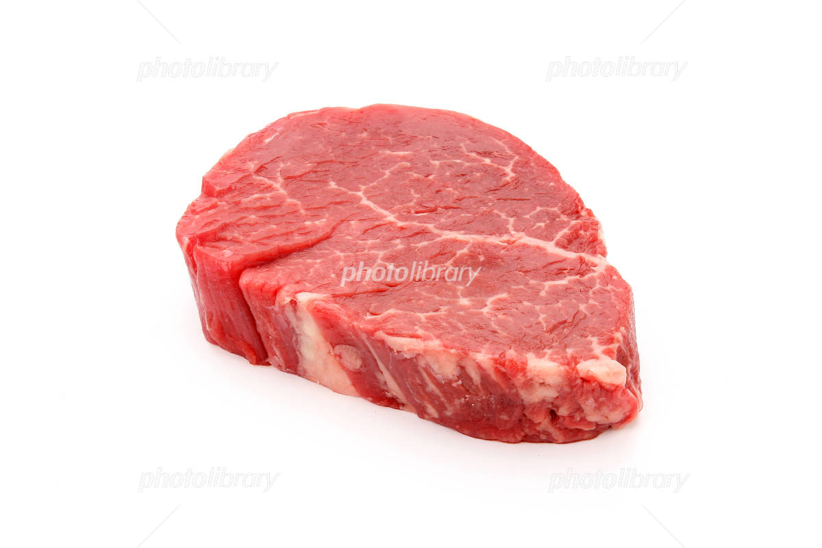 Beef fillet steak meat white back Photo