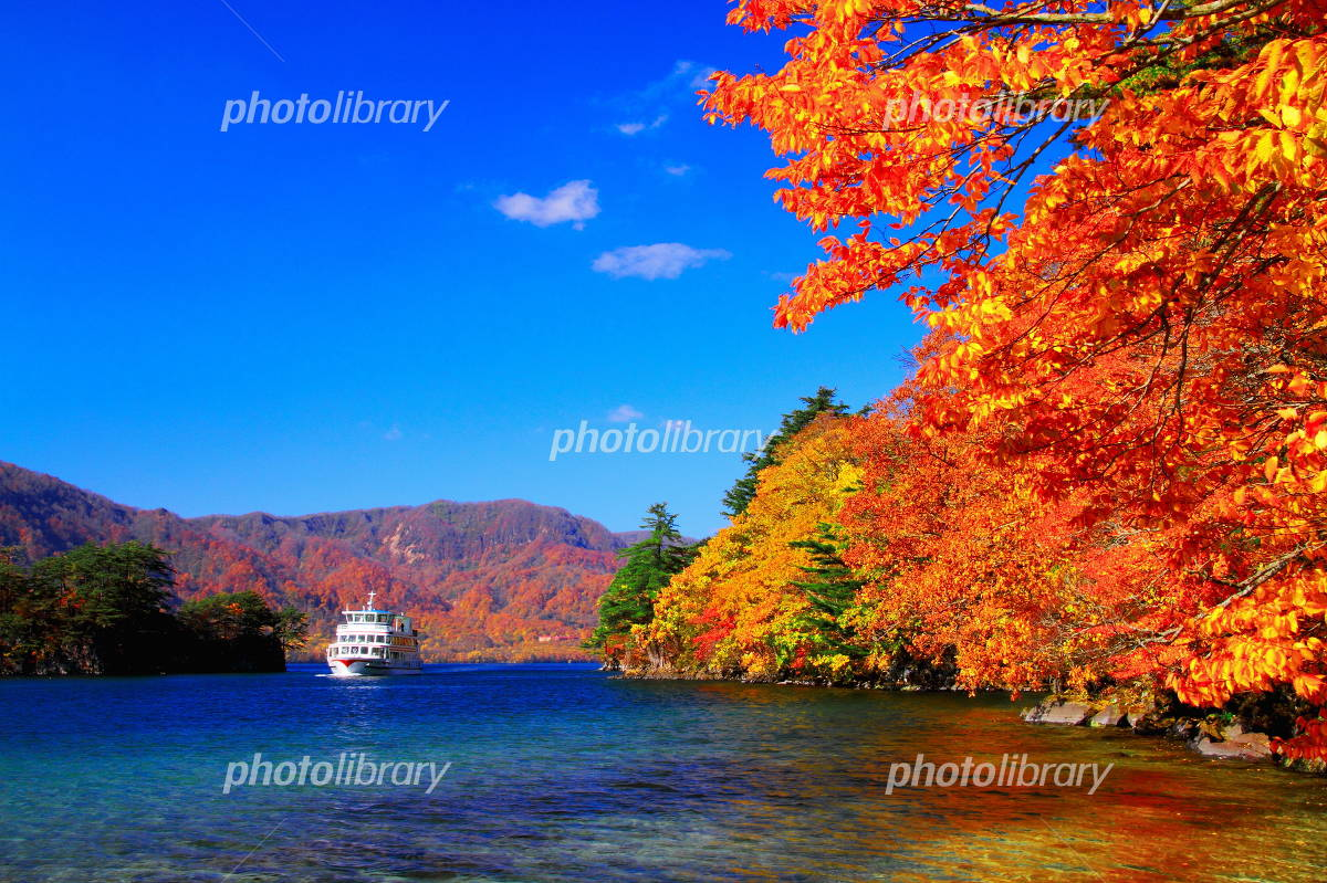 Of autumn leaves Lake Towada Photo