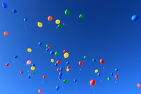 Balloons fly in the sky Stock photo [3875106] Balloon